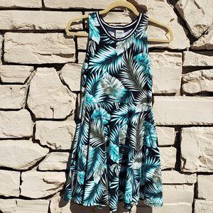 PINK tropical blue dress
